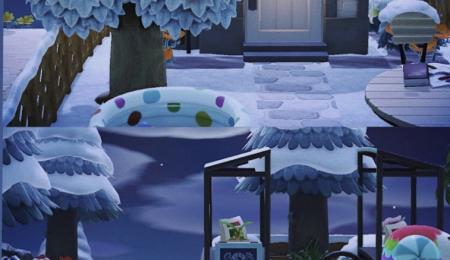 Petit village sous la neige