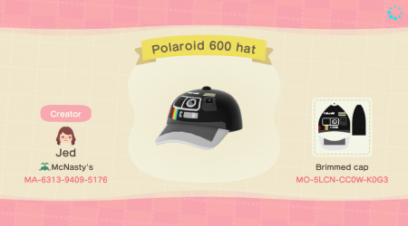 Casquette polaroid