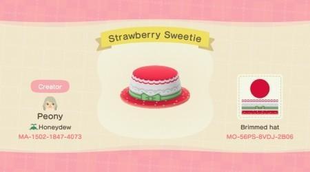 Chapeau fraise