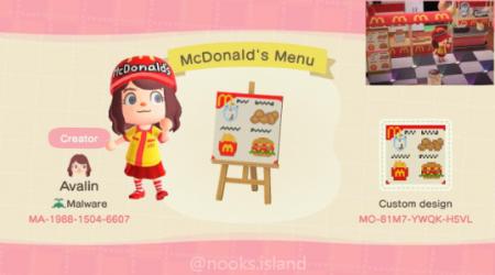 McDonald panneau