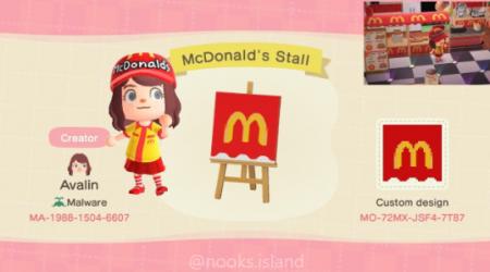 Mcdonald stand
