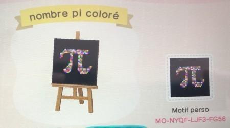 Nombre pi coloré