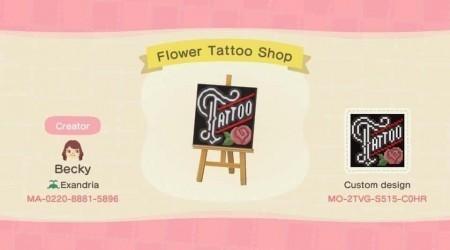 Panneau tatouage