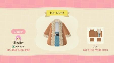 Manteau en fourrure beige