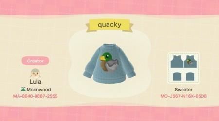 Pull bleu canard