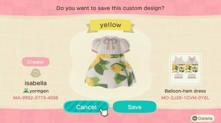 Robe ancienne fleurs jaunes