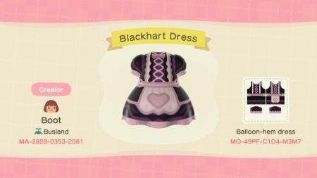 Robe cœur noire