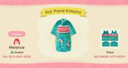Kimono carpe koï