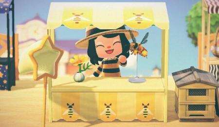 Stand abeilles miel