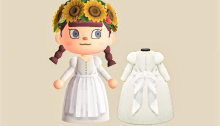 Robe tablier blanc