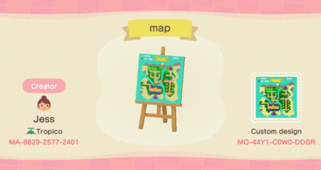AC : carte de son île