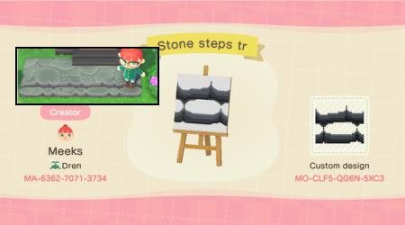 Escalier : marches dans la pierre