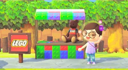 LEGO : stand ou panneau briques