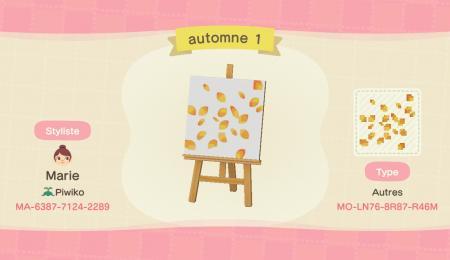 Feuilles automne jaunes
