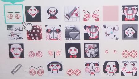 Jigsaw : maquillage et motifs Halloween