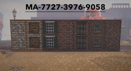 Murs et fenêtres en briques