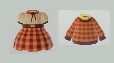 Robe ou pull à carreaux