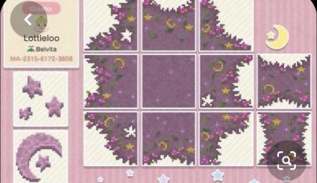 Chemin incrusté rose/violet