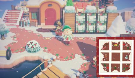 Chemin neige, hiver, Noël
