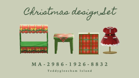 Set Noël : stand, robe, nappe
