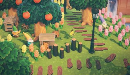 Chemin planches en bois