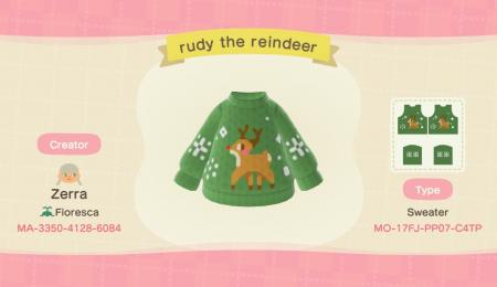 Pull hiver Noël : Rudolphe le renne