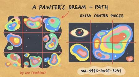 Chemin galaxie, peinture