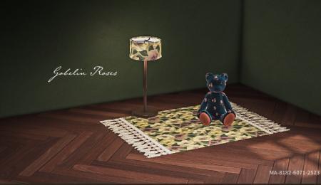 Nappe, pique-nique, tapis fleuri