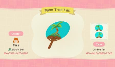 Eventail île et palmier