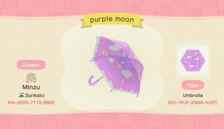 Parapluie lune rose