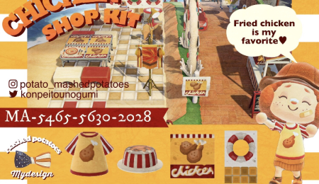 Objets magasin de poulet frit